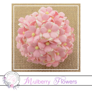 Mulberry Flowers ~ Sweetheart Blossom ~ Two-Tone Baby Pink ~ 15mm