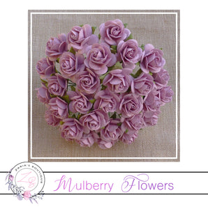 Mulberry Paper Flowers ~ Rose Pink Roses ~ 2 sizes