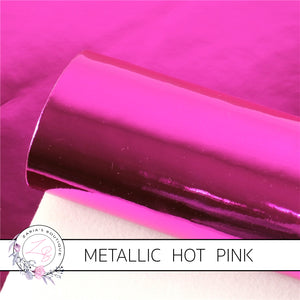Metallic Shiny Mirror ~ Hot Pink ~ Faux Leather Sheets
