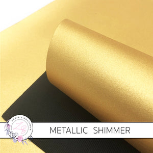 Gold Metallic Shimmer ~ Faux Leather ~ 1mm Thick