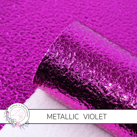 METALLIC ~ Violet Grain Faux Leather