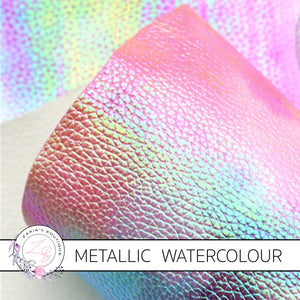 ⋅ Lolly Mix ⋅ Metallic Watercolour Vegan Faux Leather ⋅ 0.60mm