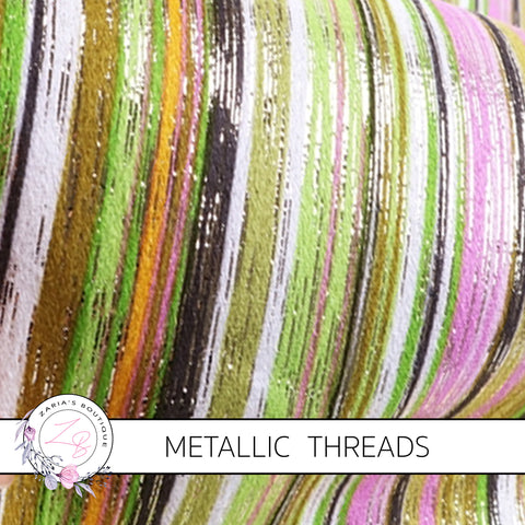 Metallic Threads ~ Rainbow Stripes ~ Forest Fruits