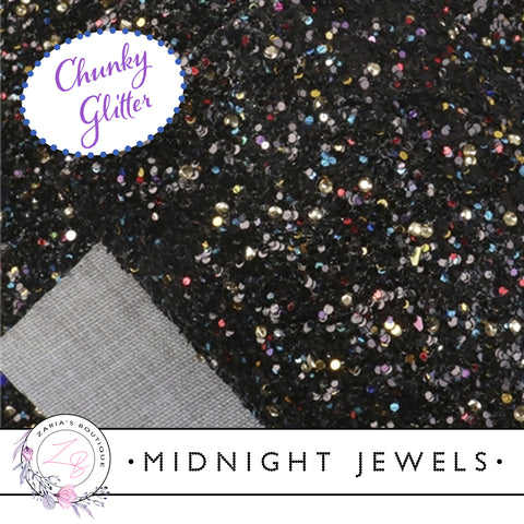Midnight-Jewels-Black-Sprinkle-Chunky-Glitter-Craft-Fabric