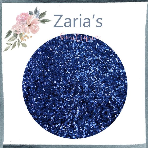 Midnight Blue ~ Medium Glitter Faux Leather Fabric Sheets