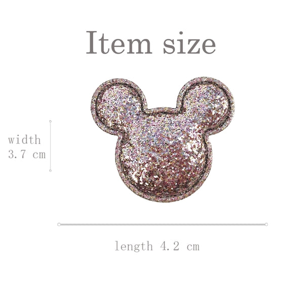 Minnie / Mickey Mouse Black Glitter Embellishment