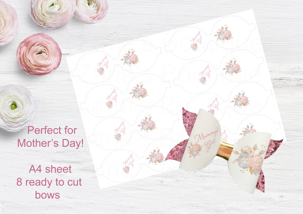 Mummy's Girl ~ Custom Printed Canvas Sheets ~ Bow Making ~ Mother's Day