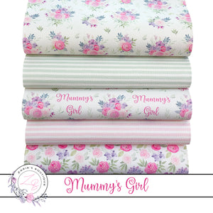 EXCLUSIVE Mummy's Girl Floral Vegan Faux Leather ~ Single Sheets & Multi-Pack