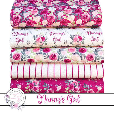EXCLUSIVE Nanny's Girl Floral Vegan Faux Leather ~ Single Sheets & Multi-Packs