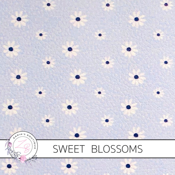 CUSTOM Sweet Blossoms ~ Faux Leather  ~ 1mm