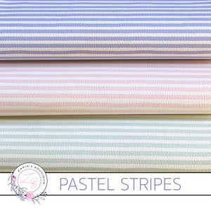 Custom Pastel Stripes Vegan Faux Leather ~ Single Sheets OR Multi-Pack