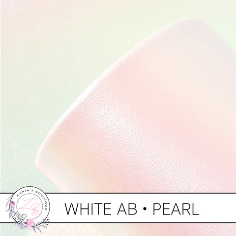 Pearlescent Faux Leather • White Pearl AB