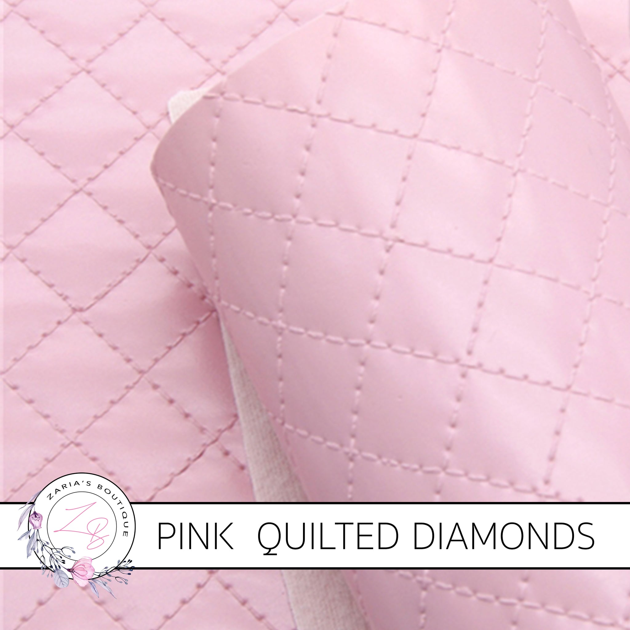 Quilted Pink Faux Leather ~ 0.80mm