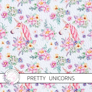 Floral Unicorns & Wands ~ Pastel Luxe Grain Ethical Vegan Faux Leather