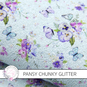 Butterfly Pansy Floral Chunky Glitter ~ 1.1mm