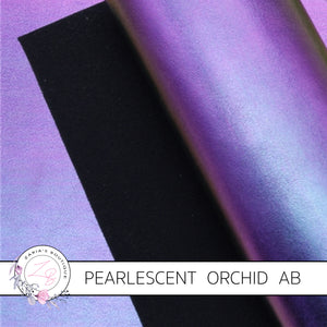 Pearlescent Faux Leather ~ Orchid Purple AB ~ 1mm