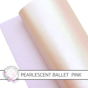 Pearlescent Faux Leather ~ Ballet Pink AB ~ 1mm