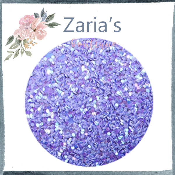 Periwinkle Purple ~ 20 x 34cm ~ Chunky Glitter Faux Leather Fabric Sheets