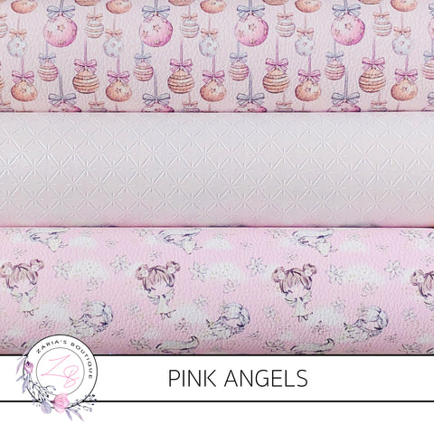 Christmas Pink Angels Faux Leather Designer Multi-Pack