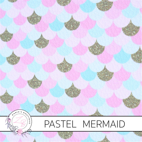 Mermaid Tails ~ Pastels ~ Pink ~ LUXE Grain Faux Leather