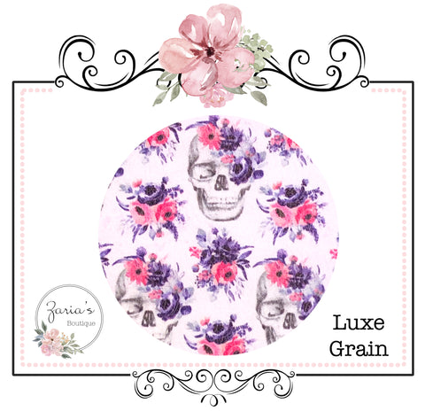 Floral Skulls  ~ Luxe Grain Faux Leather ~ 0.90mm