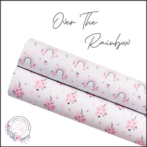 Over The Rainbow ~ Pink Floral ~ Faux Leather ~ 1mm