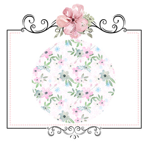 Snowflake Collection ~ Printed Canvas Sheets ~ Pink Snowflakes & Flowers