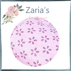 Pink Purple Glitter Daisy  ~ Craft Faux Leather