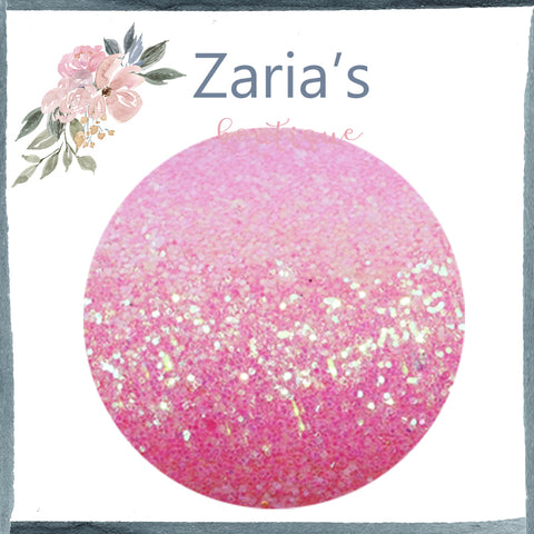 Pink Lemonade ~ Medium Glitter Faux Leather Fabric Sheets