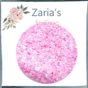 Pink Sparkle Smooth Glitter Faux Leather