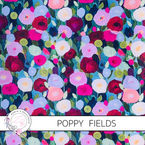 Poppy Fields ~ Floral Faux Leather ~ 1mm
