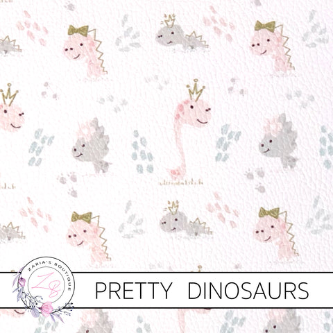 Pretty Dinosaurs ~ Custom Faux Leather ~ 1mm