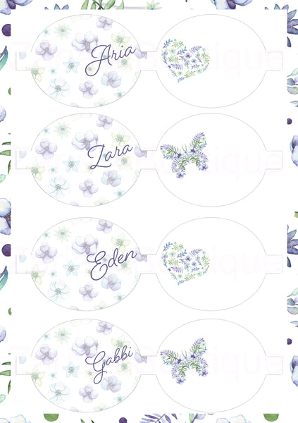 Name Bows ~ Custom Printed Canvas Sheets ~ Lavender ~ Bow Making