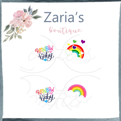 Rainbow Baby ~ Custom Printed Canvas Sheets ~ Bow Making