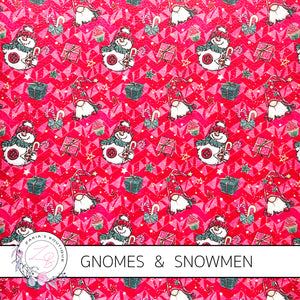 Christmas Gnomes & Snowmen ~ Green ~ Faux Leather