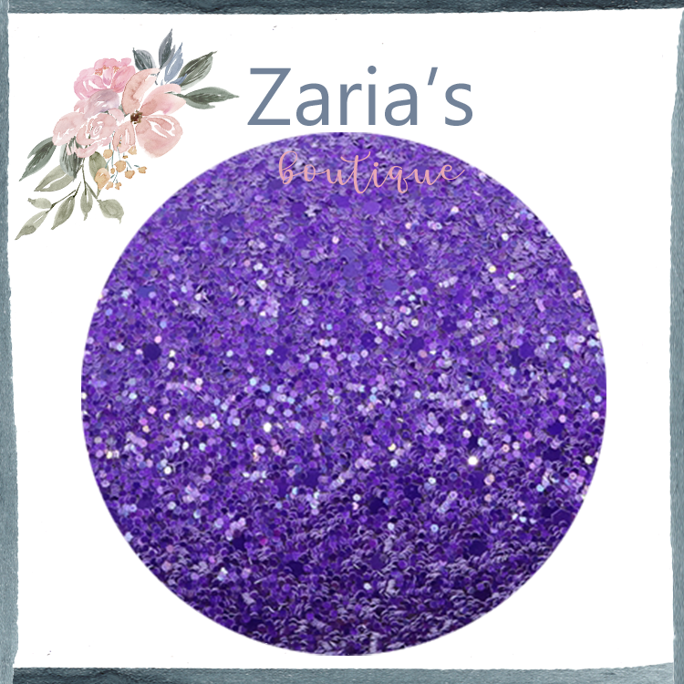 Royal Purple ~ Chunky Glitter Faux Leather Fabric Sheets