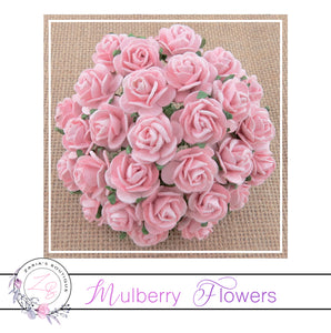Mulberry Paper Flowers ~ Blush Pink Roses ~ 2 sizes