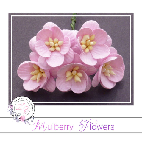 Mulberry Paper Cherry Blossoms ~ Baby Pink ~ 5 pieces