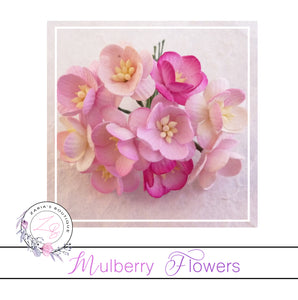 Mulberry Paper Cherry Blossoms ~ Mixed Pinks ~ 10 pieces