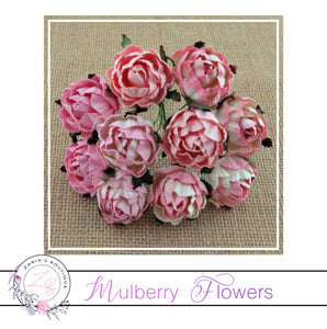Mulberry Paper Flowers ~ Peony ~ 30mm ~ Mixed Pinks