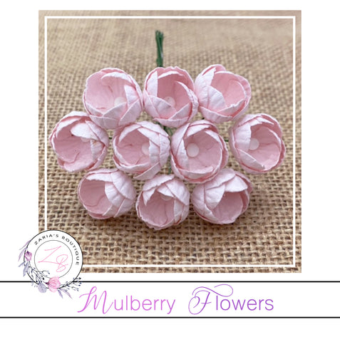 Mulberry Paper Buttercups ~ Pink Mist ~ 25mm x 10 pieces