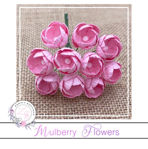 Mulberry Paper Buttercups ~Sweetest Pink ~ 25mm x 10 pieces