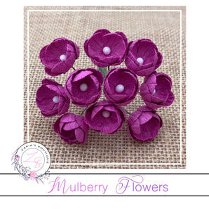 Mulberry Paper Buttercups ~ Fuchsia Pink ~ 25mm x 10 pieces