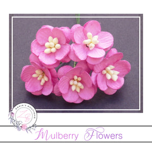 Mulberry Paper Cherry Blossoms ~ Pink ~ 5 pieces