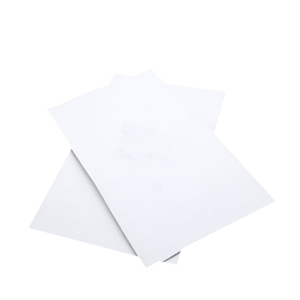 SMOOTH ~ White Faux Leather Craft Fabric Sheets