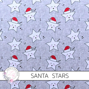 Santa Stars Christmas Luxe Grain Faux Leather ~ 1.03mm