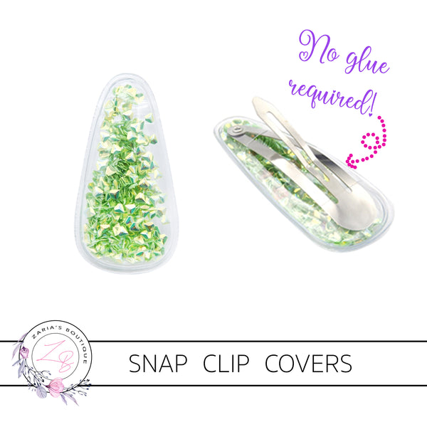 Shaker Snap Clip Covers ~ Baby Pink Stars ~ Pack of 2
