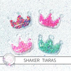 Star-Filled Tiara Shakers ~ 4 Colours ~ 5.6 x 4.5cm