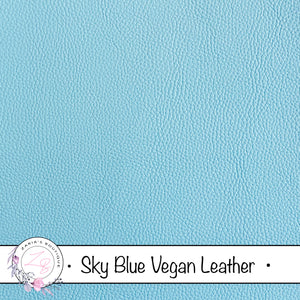 Sky Blue Faux Leather • Vegan Pebble Grain