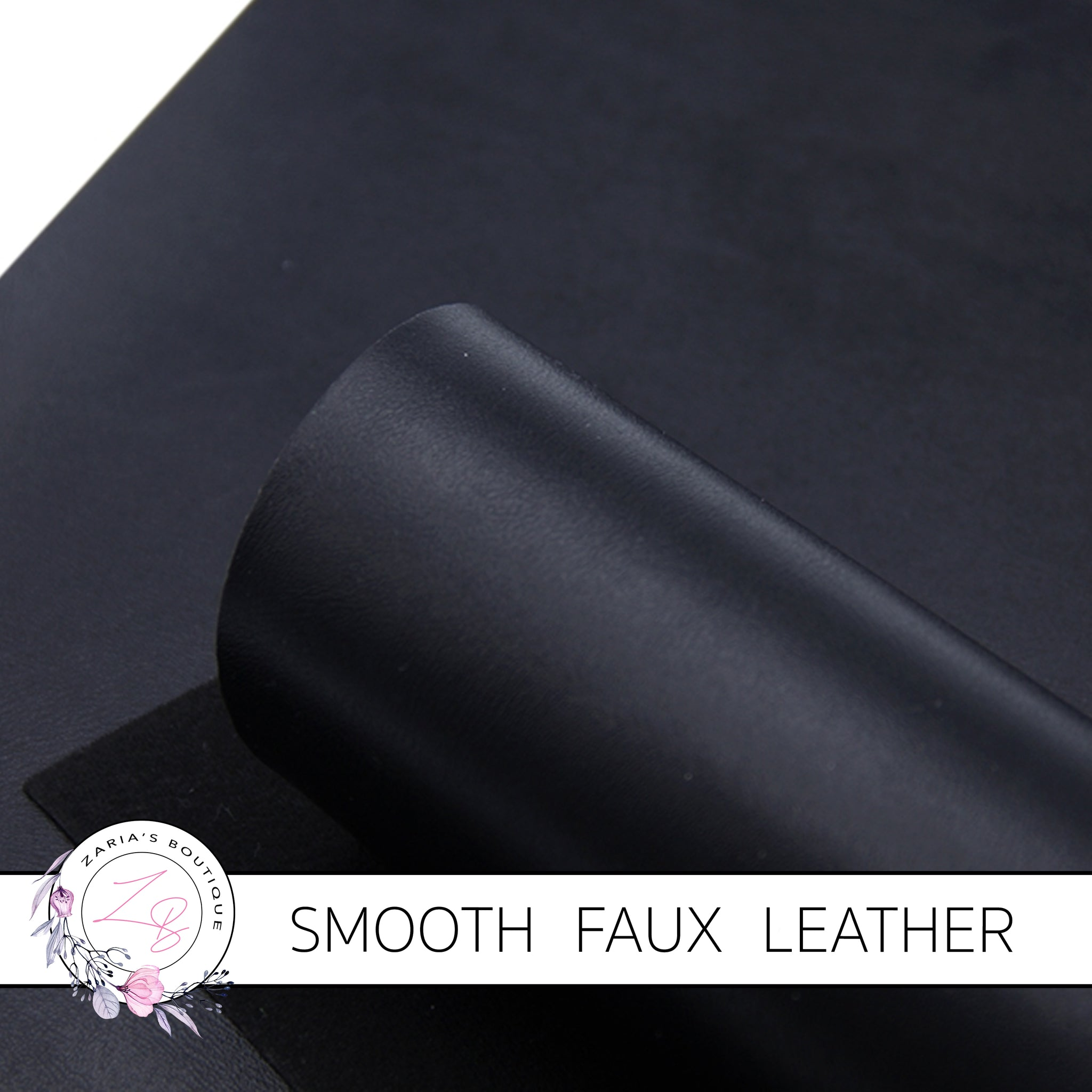 Black Smooth Faux Leather ~ 0.92mm